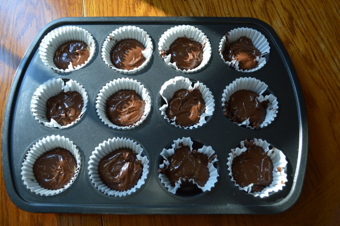 baking the homemade peanut butter cups