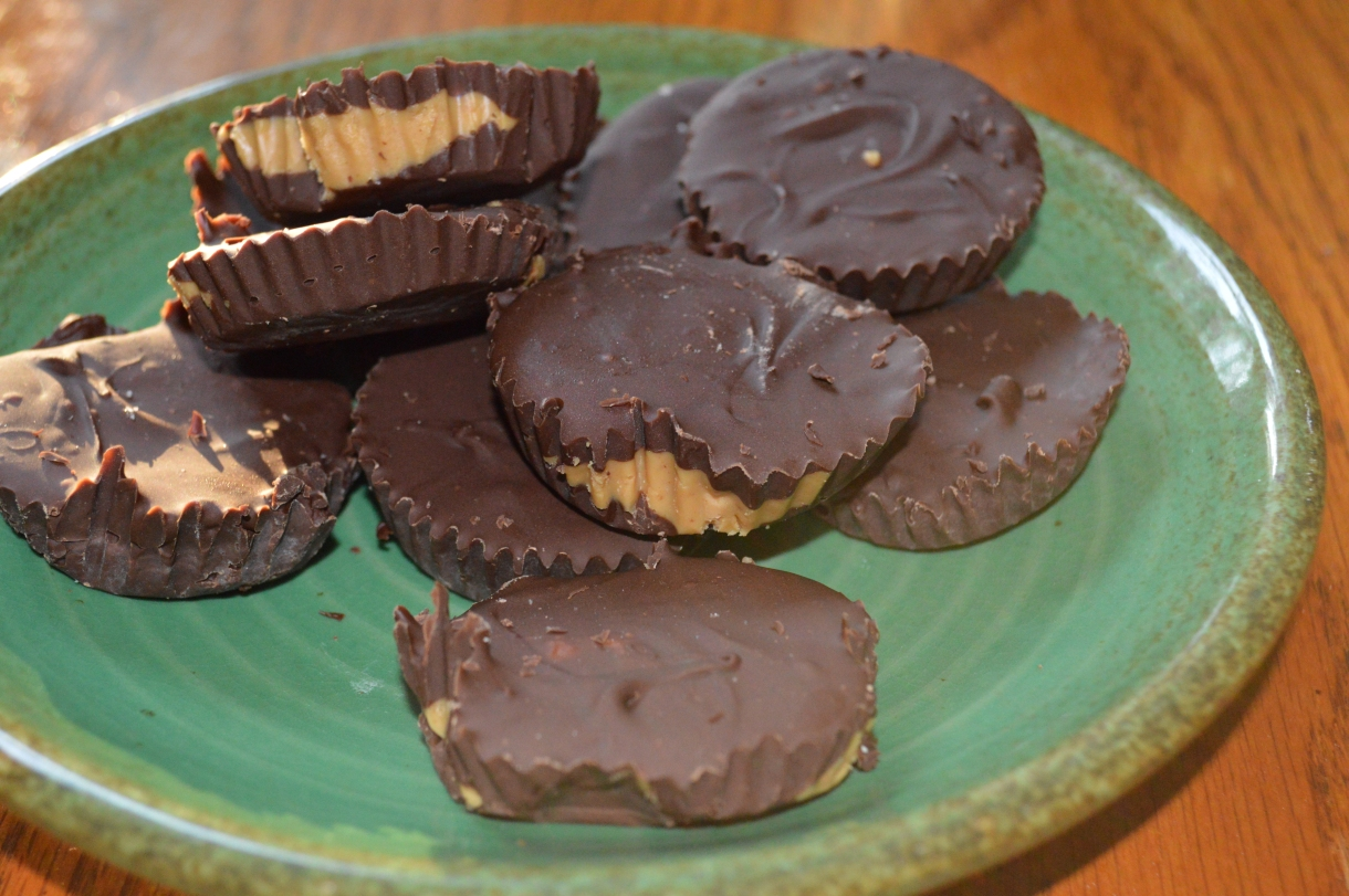 finished homemade peanut butter cups