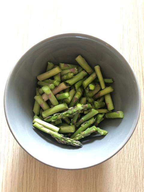 asparagus for the shrimp fried rice