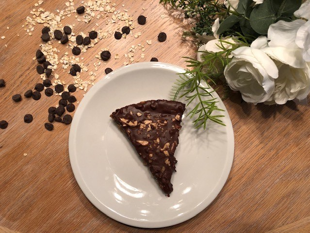slice of chocolate & oat bar