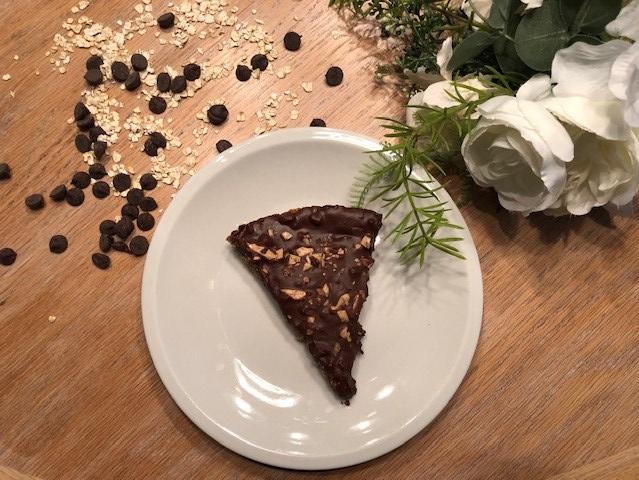 slice of chocolate & oat bar
